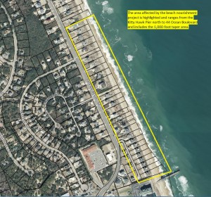 Map of area affected by the Beach Nourishment project